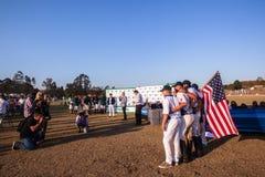 Voiture Shongweni Hillcrest de sponsor de joueurs des Etats-Unis de polo Photos stock