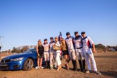 Voiture Shongweni Hillcrest de sponsor de joueurs des Etats-Unis de polo Images stock