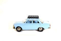 Voiture soviétique bleue de modèle collectable de jouet Image stock