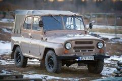 Voiture UAZ-469 4x4 soviétique Images libres de droits