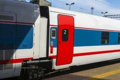 Voiture ultra-rapide du train de voyageurs photo stock