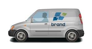 Voiture, véhicule, van icon La livraison, transport de cargaison, transport, identité du trafic Illustration de vecteur Images libres de droits