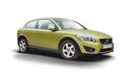 Voiture verte Volvo C30 de Hatcback de sport Photos stock