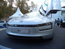 Voiture Volkswagen du concept XL1 Photographie stock