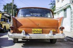 Voitures américaines au Cuba Photos libres de droits