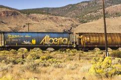 Voitures canadiennes de blé de chemin de fer Photo libre de droits