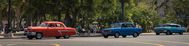 Voitures cubaines Photo stock