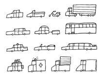 Voitures de bande dessinée/véhicules drôles de transport Illustration Stock