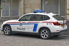 Voitures de BMW utilisées par police au Luxembourg Photos stock