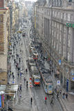 Voitures de chariot de Prague Photo stock