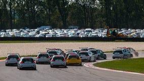 Voitures de course de VW Golf Photo libre de droits