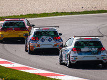 Voitures de course de VW Golf Photo libre de droits