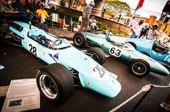 Voitures de course de vintage dans le salon automobile classique le jour 2013 d'Australie Photographie stock