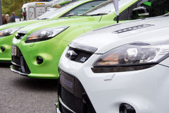 Voitures de Ford Focus RS Photographie stock libre de droits