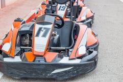 Voitures de karting photographie stock libre de droits