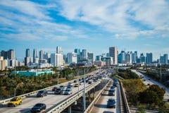 Voitures de paysage du trafic de Miami Photographie stock libre de droits