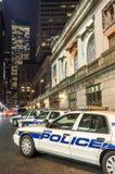 Voitures de police de New York photographie stock