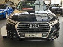 Voitures de présentation de l'Ukraine Kiev le 25 février 2018 nouvelles dans Audi Motor Show Photos stock