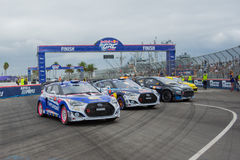 Voitures de rassemblement chez Red Bull GRC Rallycross global Photo libre de droits