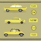 Voitures de renommée mondiale de taxi réglées Photo stock