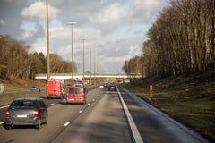 Voitures de route Photo libre de droits