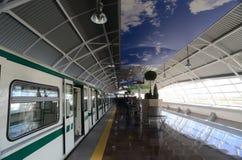 Voitures de souterrain dans une station à Sofia, Bulgarie le 2 avril 2015 Images stock