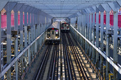 Voitures de souterrain de New York City Images stock