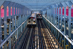 Voitures de souterrain de New York City Photographie stock