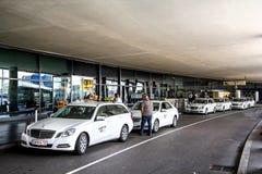 Voitures de taxi Images libres de droits