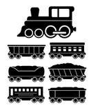 Voitures de train réglées pour la livraison de voyage ou de cargaison Photos libres de droits