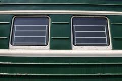 Voitures de train vertes Photos libres de droits