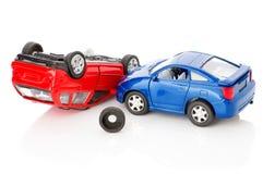 Voitures des accidents deux, cas d'assurance Image libre de droits