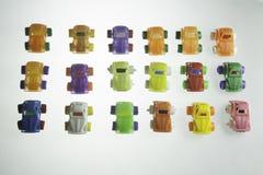 Voitures en plastique colorées Photo libre de droits