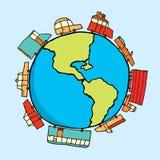 Voitures autour du monde Illustration Stock