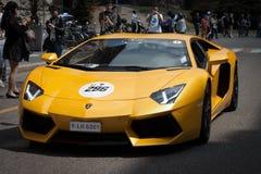 Voitures internationales de Lamborghini rencontrant 2013 à Milan photographie stock libre de droits