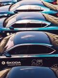 Voitures modernes de Skoda photos stock