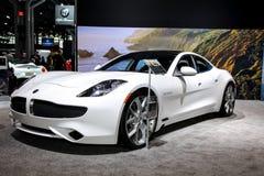 Voitures superbes de luxe électriques hybrides de Karma Revero Photos libres de droits