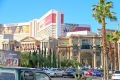 Voitures sur la bande à Las Vegas, Nevada. Images stock