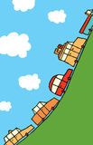 Route à grand trafic jusqu'au dessus Illustration Stock