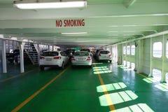 Voitures sur le ferry Image stock