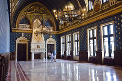 Voivodes Hall, Palace of Culture, Iasi. Voivodes Hall in the Palace of Culture, Iasi, Romania. The Voivodes hall is the most beautiful and monumental room of the Stock Image