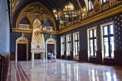 Voivodes Hall, slott av kultur, Iasi Fotografering för Bildbyråer