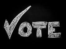 Voix dans l'élection Photographie stock