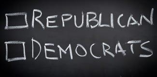 Voix dans l'élection américaine Photos stock