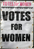 Voix pour l'affiche de femmes Photos stock