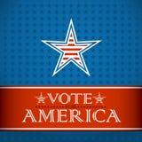 Voix pour l'Amérique Photos stock