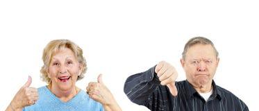 Voix pour ou voire couples Image stock