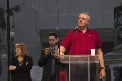 Vojislav Šešelj's speech Stock Image