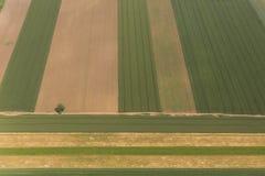 Vojvodina`s land from sky Royalty Free Stock Image