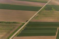 Vojvodina`s land from sky Stock Image